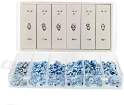 ABN Hydraulic Grease Fitting SAE Standard 110-Piece Kit – Straight, 90-Degree, 45-Degree Angled Zerk Assortment Set