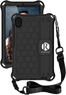 Remson Slim Shockproof Impact-Resistant Silicone Stand Smart Cover Case with Hand Strap,Shoulder Strap For Huawei MatePad ...