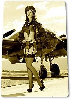 Bomb Dropper WW2 Pin-up Sexy Girl Vintage Retro Tin Sign Metal Sign TIN Sign 7.8X11.8 INCH