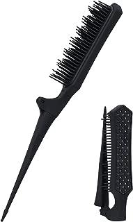 Mini Teasing comb rat tail Brush, Folding Portable Backcombing Detangling Hair Comb