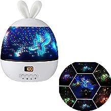 ster nacht licht projector Lucky konijn projector Starry Sky Night Lamp 6 sets van Film 360 Graden Rotatie (white1)