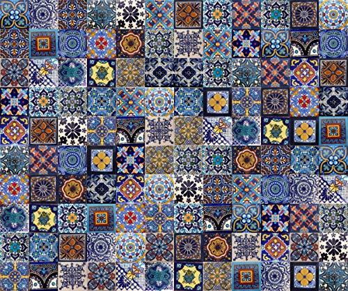Cerames Tonito blauwe keramische Mexicaanse tegels 2