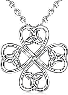 Shamrock Choker Necklace Celtic Knots Silver Tone Pendant Women/'s XXS or Girl/'s M