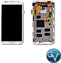 Group Vertical Replacement Screen AMOLED Digitizer Frame Assembly Compatible with Motorola Moto X2 (2nd Gen/2014) XT1092, XT1093, XT1094, XT1095, XT1096, XT1097 (5.2