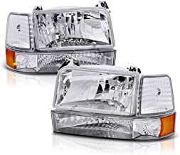 ACANII - For 1992-1996 Bronco F150 F250 F350 Headlights Corner Signal Bumper Lamps Driver + Passenger Side