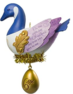 Hallmark 2016 Christmas Ornaments Six Geese - a - Laying - 6th Series