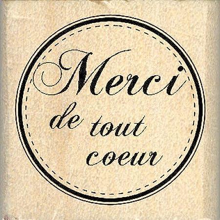 Florilèges Design FB208030 Tampon Scrapbooking Merci de Tout Coeur, Beige