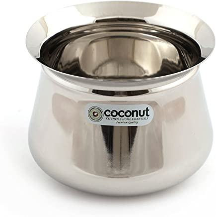 Coconut Stainless Steel Arcot Handi, 650ml, Silver