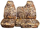 Totally Covers Compatible with 1998-2003 Ford Ranger/Mazda B-Series Camo Truck Seat Covers (60/40 Split Bench) - No Armrest/Console: Wetland Camouflage (16 Prints)