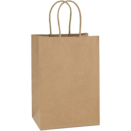 Amazon Com Gift Bags 8x4 25x10 5 25pcs Bagdream Paper Bags Shopping Bags Kraft Bags Retail Bags Brown Paper Gift Bags Bulk With Handles 100 Recyclable Paper Bags Health Personal Care