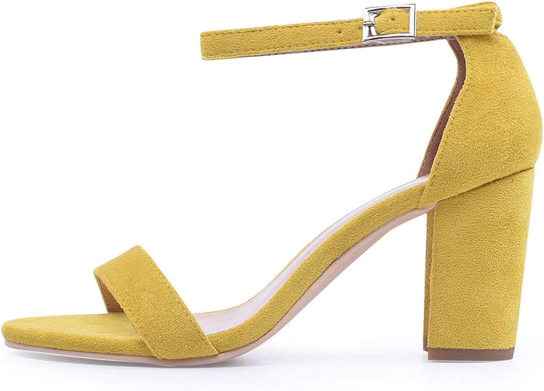 Shine-shine Ankle Rap Heels Open Toe Chunky Party Dress Sandals Big Size 42