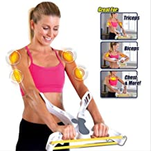Letton Arm Workout Machine Upper Body Resistance Exercise with 3 System Resistance Training Bands for Women Tones Strengthens Arms Biceps Shoulders Chest