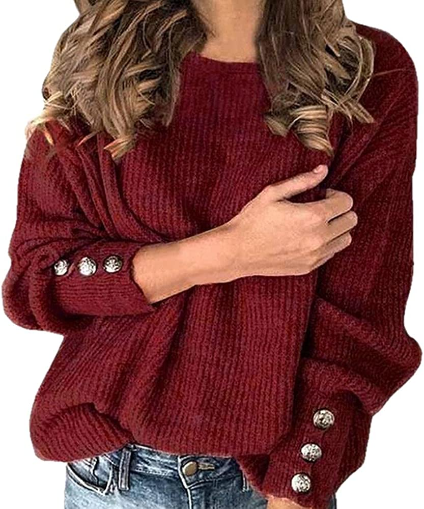 NP Knitted Sweater Autumn and Winter Long-Sleeved Button Sweater Casual