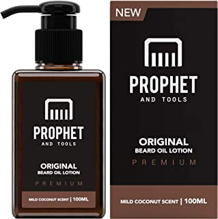 NEW Beard Oil Lotion for Thicker Facial Hair Grooming | 100ML - The All-In-1 Conditioner and Shampoo-like Softener, Shine ...