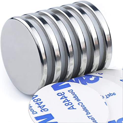 DIYMAG Powerful Neodymium Disc Magnets with Double-Sided Adhesive, Strong Permanent Rare Earth Magnets for Fridge, DI...