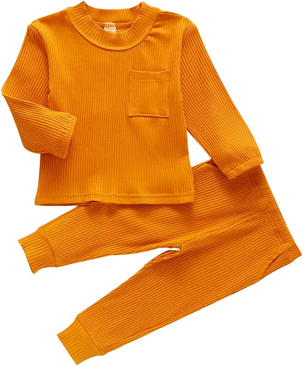 MiliMaDa Toddler Baby Girl Boy Daily bargain sale Fall Solid Col NEW before selling ☆ Outfits Winter and