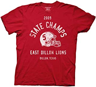 Ripple Junction Friday Night Lights Adult Unisex 2009 State Champs Light Weight 100% Cotton Crew T-Shirt Red