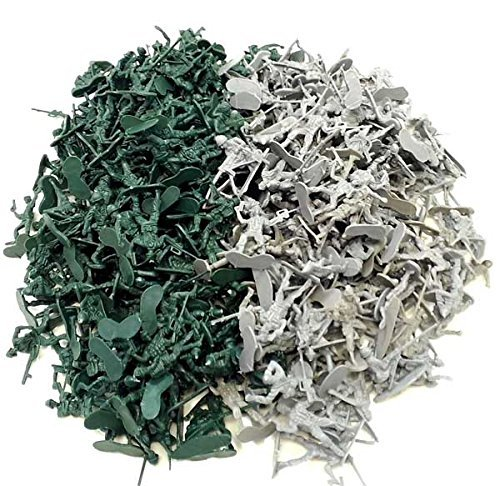 1000 Army Military Soldiers Army Men 2 Colors by Combat Force