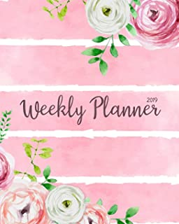 2019 Weekly Planner: Daily Weekly Monthly Calendar Planner | For Academic Agenda Schedule Organizer Logbook and Journal Notebook Planners With To To ... (planner 2018-2019 academic year) (Volume 5)