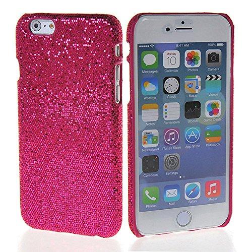 Coolke - Custodia per iPhone 6 (4,7 pollici), in plastica rigida con glitter