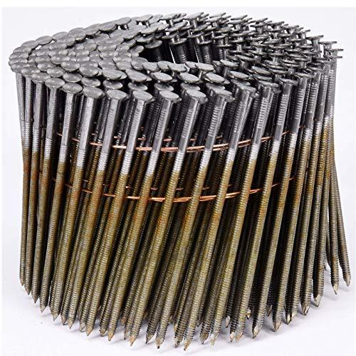 VOREL drahtgebundene Coilnägel Spulennägel Trommelnägel | Mengen und Größen nach Wunsch: 32 x 2,1 mm 38x2,1mm 50x21mm 64x2,5mm 70x2,5mm 75x2,5mm 80x2,88mm 90x2,8mm (3000, 90x2,8mm)