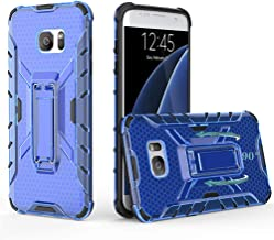 Phone Case for Samsung Galaxy S7 Edge Cases with Metal Kickstand Stand Heavy Duty Hybrid Hard Rugged Shockproof Dual Layer...