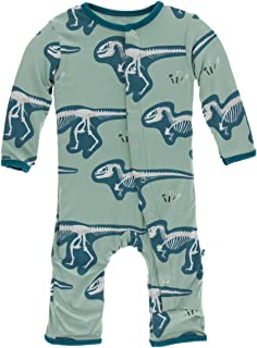 Kickee Pants Baby Boys' Print Coverall - Green - 12-18 Months