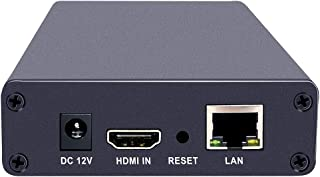 ISEEVY Mini HD 1080P HDMIビデオエンコーダー H.264 IPTVエンコーダー IPTV、ライブストリーム、ブロードキャスト対応 RTMP RTSP RTP UDP HTTP ONVIF FLV HLS TS プロトコル...