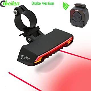 Meilan Newest X5 Smart Wireless Control Bike LED Front Back Light,Brake Tail Light USB Rechargeable Bike Lights