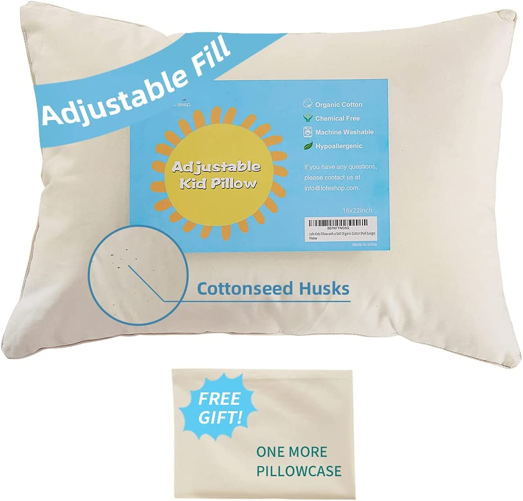 Today's only excellence Lofe Organic Kids Pillow with Pillowcase 1 Youth - 16x22