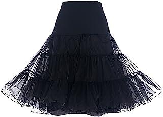 DRESSTELLS 50s Sottogonna Petticoat Organza Retro Vintage Mini gonne Puffy Rockabilly