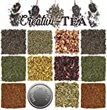 Loose Leaf Tea Sampler Gift Set Assortment — Create Your Own Tea Blend Starter Kit w/ Sencha,...