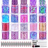 Best Nail Glitters - Chunky Glitter for Nails, Cridoz 20 Colors Chunky Review