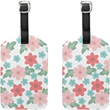 Luggage Tags Summer Flower Mens Tag Holder Kids Bag Labels Traveling Accessories 2 Piece