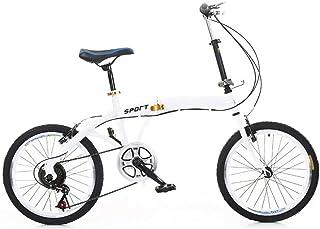 20 inch vouwfiets, lichtgewicht opvouwbare fiets 7 speed fiets dubbele V rem gelegeerd koolstofstaal, voor volwassenen kin...