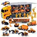 11 in 1 Die-cast Construction Truck Vehicle Car Toy Set Play Vehicles in Carrier Birthday Gifts for Over 3 Years Old Boys from Joyin Inc