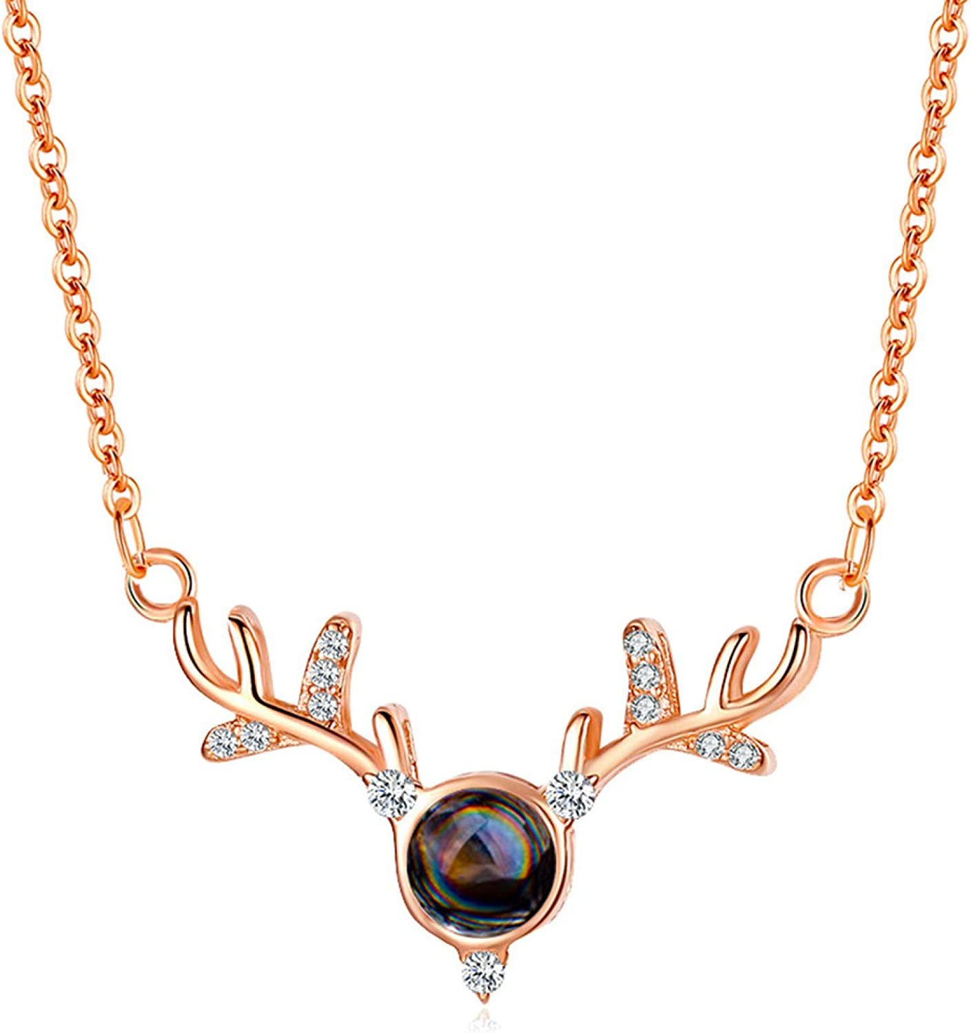 erDouckan Women Girl Fashion Summer Spring Jewerly Necklace Female Antler Shaped Projection Clavicle Chain Pendant Choker Necklace Jewelry