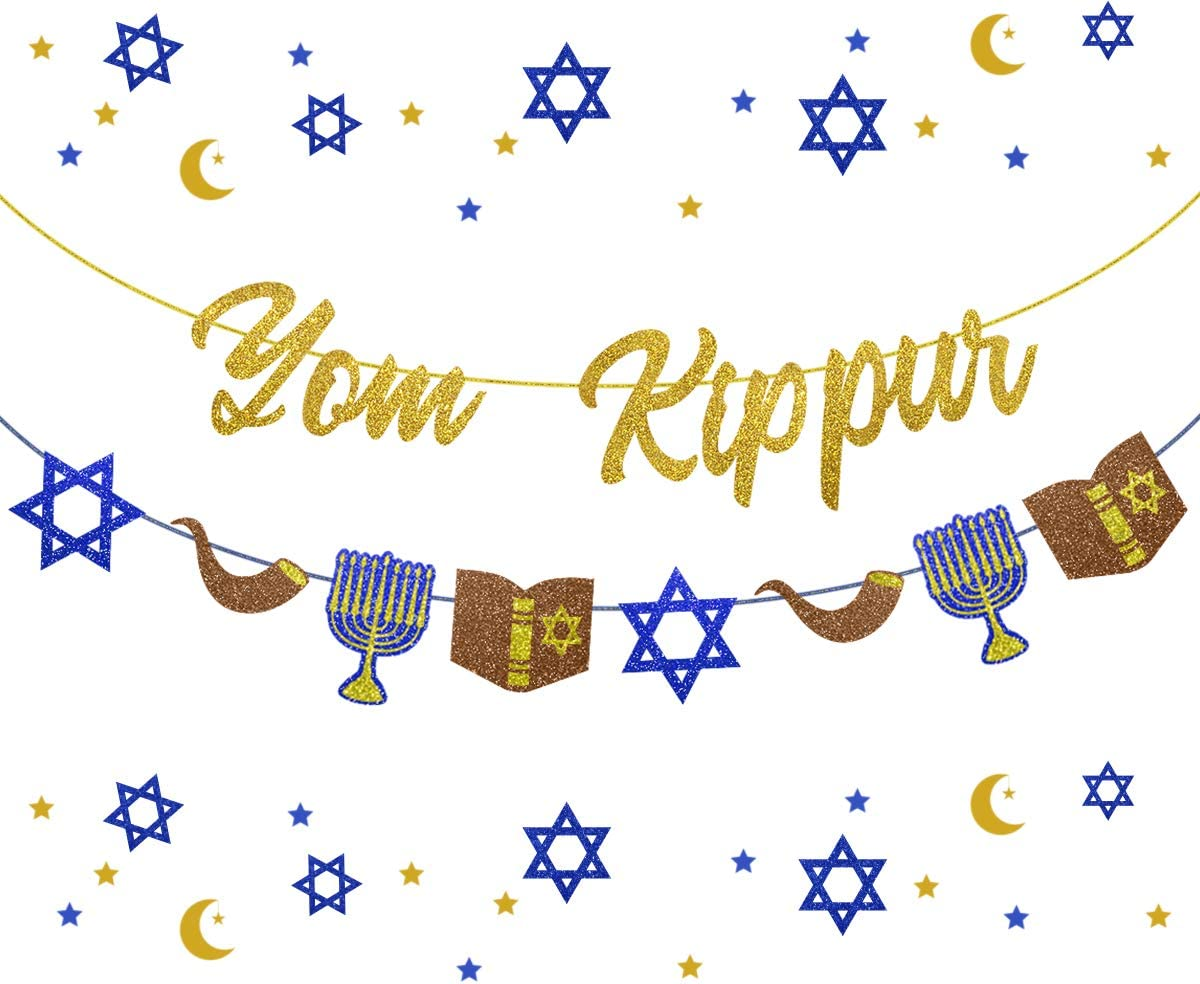 Yom Kippur Banner Cheap mail order specialty store Jewish New Rosh Ranking TOP13 Decoration Hashanah Year Party
