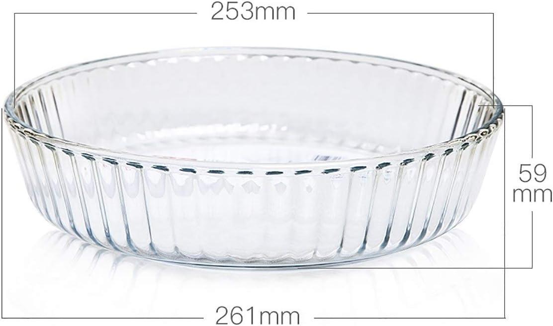 SHTSH Plaque de verre trempé, ronde de cuisson Plateau, transparent Creative plateau de cuisson (Color : Clear) Clear