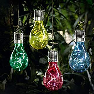 Amyove Bombilla colgante de energía Solar Sensor de luz, Lámpara LED, Lámpara decorativa de