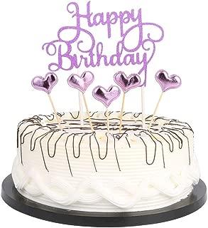 purple cake topper