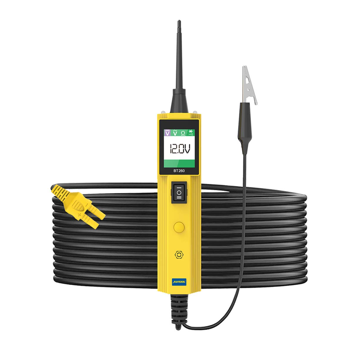 Automative Kit de sonda de corriente, Autool 6 - 30 V sistema eléctrico herramienta de diagnóstico comprobador de circuitos con LED Linterna para 6 V/12 V/24 V coche/barco/sistema