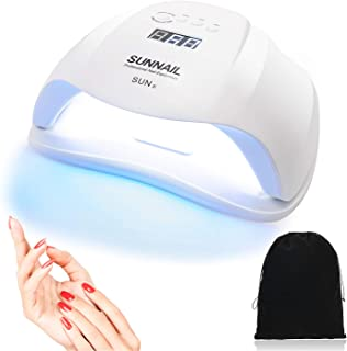 54W UV Nail Lamp,Nail Dryer for Gel Polish, LED Nail Lamps with 4 Timer Settings & Sensor UV Light Curing Lamp for Gel Nails and Toe Nail Curing Including Storage Bag