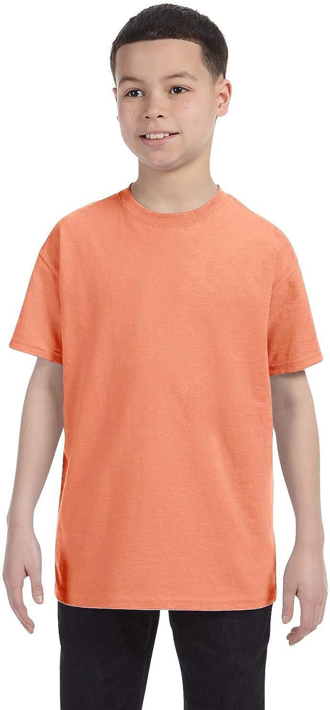 By Hanes Hanes Youth 61 Oz Tagless T-Shirt - Candy Orange - XL - (Style # 54500 - Original Label)