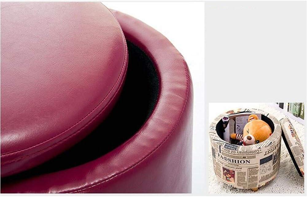 WHOJA Tabouret de Rangement Multifonction Espace de Rangement Tambour Coton et Lin Respirant 42x44cm Ottomans (Color : B) B