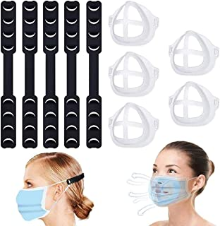 Meterk Mask Extender Adjustable Ear Savers for Masks Ear Protector Decompression Holder Hook Ear Strap Accessories with 3D...