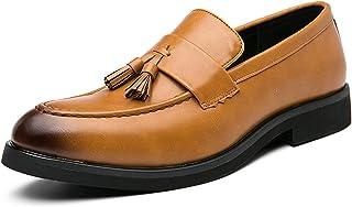 Zapatos casuales Zapatos casuales de los hombres, zapatos de vestir de moda clásicos de pie de hombre, cuero artificial pu...