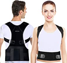 QNTICH Back Brace Posture Corrector Fully Adjustable Support Belt Improves Posture and Provides Lumbar Back Brace Lower and Upper Back Pain Relief Upright Go Posture