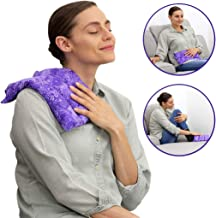 Lumbar Herbal Heating Pad – Microwavable & Reusable Hot and Cold Therapy for Menstrual Cramps, Back and Neck Pain Relief by Nature Creation (Purple Flowers)