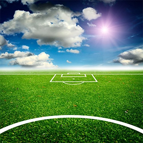 Aofoto 5x5ft Pitch Backdrop Soccer Field Stadium Football Court Photography Background Kid Child Boy Adult Artistic Portrait Sports Match Photo Shoot Studio Props Video Drop Vinyl Wallpaper Drape Wantitall